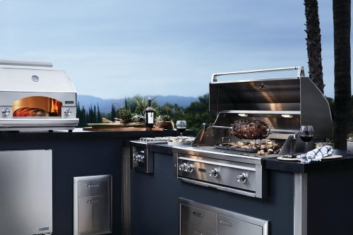 "36"" Lynx Professional Freestanding Grill with 1 Trident and 2 Ceramic Burners and Rotisserie, LP"