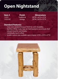 Open Nightstand - Traditional