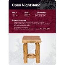 Open Nightstand - Traditional