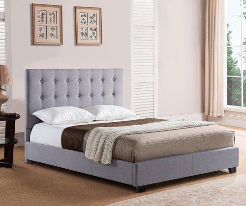 Stratford Platform Bed - Queen, Grey