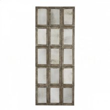15 Panel Rustic Barnwood Mirror