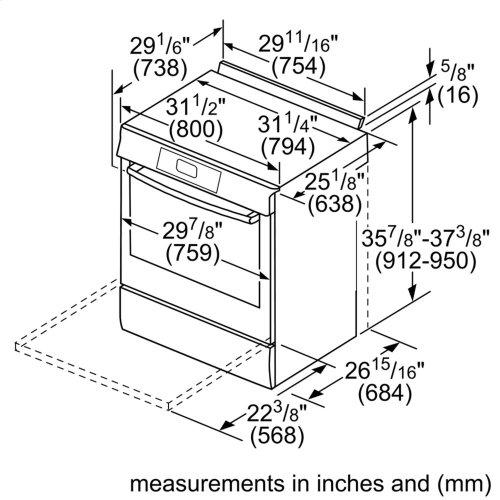 Benchmark Series, Dual-Fuel Slide-In Range US