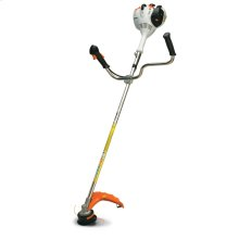 This straight-shaft grass trimmer features bike-style handles, ideal for large or difficult areas.