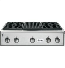 """GE Monogram® 36"""" Professional Gas Rangetop with 4 Burners and Grill (Liquid Propane)"""