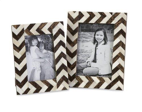 Zigzag Bone Inlay Frames - Set of 2