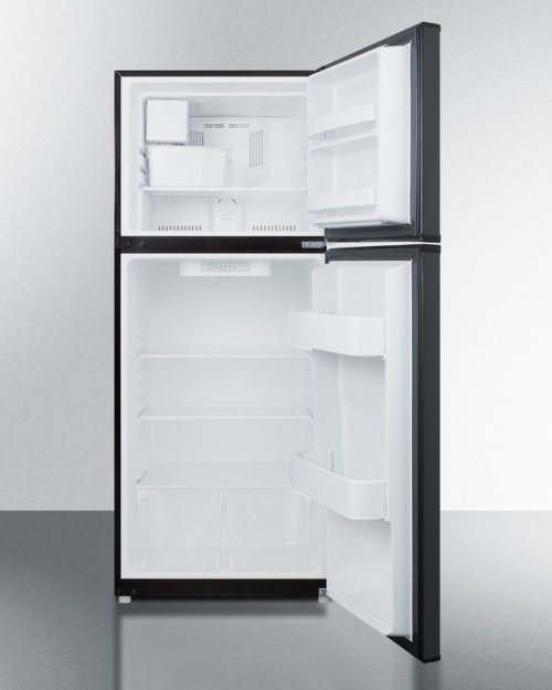 "9.9 CU.FT. Frost-free Refrigerator-freezer With Icemaker In 24"" Width and Black Finish"