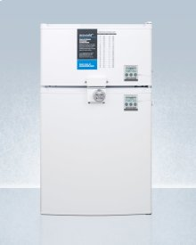 Compact Two-door Cycle Defrost Refrigerator-freezer With Combination Lock and Nist Calibrated Thermometers