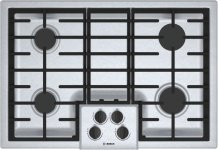 "500 Series 30"" 4 Burner Gas Cooktop, NGM5056UC, Stainless Steel"