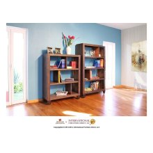 "55"" Bookcase with 3 shelves & Casters"
