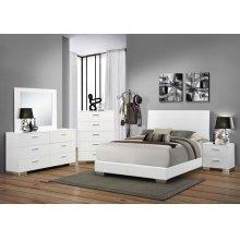 Felicity Contemporary White California King Bed