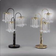 "Rain Drop Table Lamp 34""h Black"
