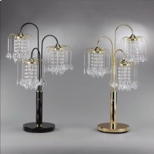 "Rain Drop Table Lamp 34""h Gold"