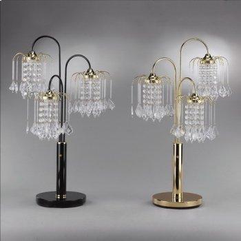 "Rain Drop Table Lamp 34""h Black Product Image"