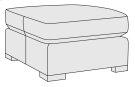 Germain Ottoman in Mocha (751) Product Image