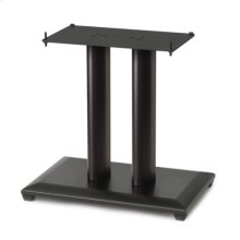 "18"" Natural Series Wood Pillar Speaker Stand - Single - Black"