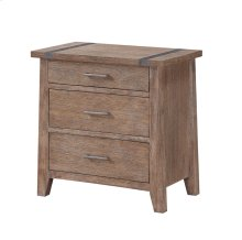 Emerald Home Viewpoint 3 Drawer Nightstand Driftwood B977-04
