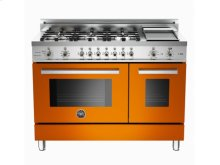 Orange 48 6-Burner, Electric Double Oven