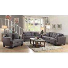 Samuel Charcoal Three-piece Living Room Set