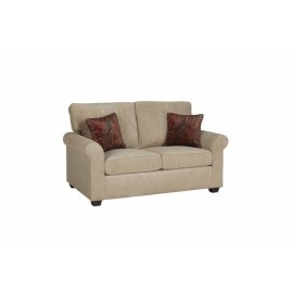 Love Seat - Beige Chenille Finish
