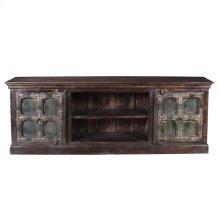Antique Reclaimed Wood Entertainment Cabinet 03c