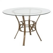 Carlisle 45'' Round Glass Dining Table with Matte Gold Metal Frame