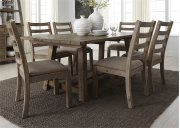 Opt 7 Piece Trestle Table Set Product Image