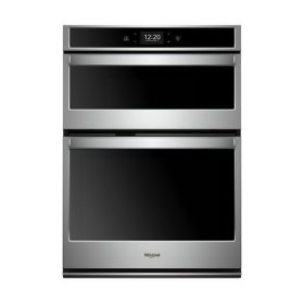 Whirlpool® 6.4 cu. ft. Smart Combination Wall Oven with Touchscreen - Black-on-Stainless