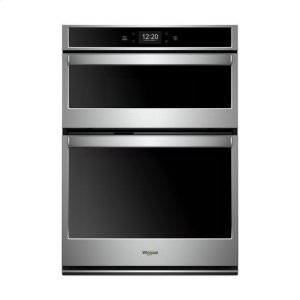 WHIRLPOOLWhirlpool(R) 6.4 cu. ft. Smart Combination Wall Oven with Touchscreen - Black-on-Stainless