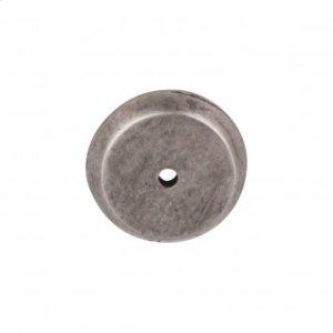Aspen Round Backplate 1 1/4 Inch - Silicon Bronze Light