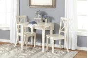 Everyday Classics Drop Leaf Table With 2 Ladder Back Chairs- Linen Product Image