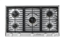 "Heritage 36"" Professional Gas Cooktop, Natural Gas/High Altitude"