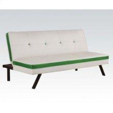 White/green Pu Adjustable Sofa