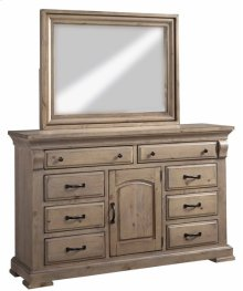 Door Dresser \u0026 Mirror - Natural Finish