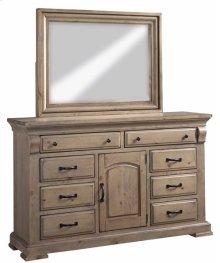 Door Dresser \u0026 Mirror - Natural Finish