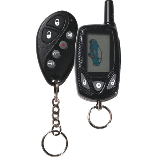 Advanced two-way command confirming vehicle security with enhanced keyless entry