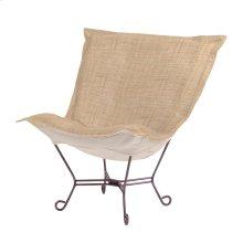Scroll Puff Chair Coco Stone Titanium Frame