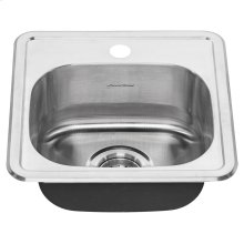 Colony Top Mount ADA 15x15 Single Bowl Stainless Steel 1-hole Kitchen Sink  American Standard - Stainless Steel