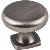 "1-3/8"" Diameter Forged Look Flat Bottom Knob."