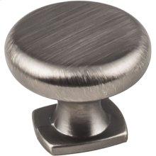 "1-3/8"" Diameter Forged Look Flat Bottom Knob."