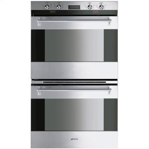"Smeg76CM (30"") ""Classic"" Electric Multifunction Double Oven Stainless Steel"