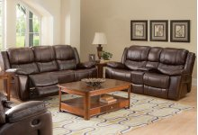 Kenwood Console Loveseat W/pwr Fr -prem. Brown