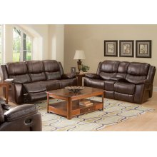 Kenwood Dual Recliner Console Loveseat -prem. Brown