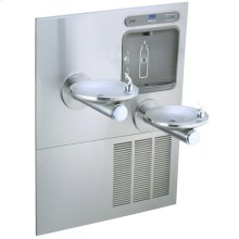 Elkay EZH2O Bottle Filling Station with Integral SwirlFlo Fountain, Refrigerated Non-Filtered Stainless