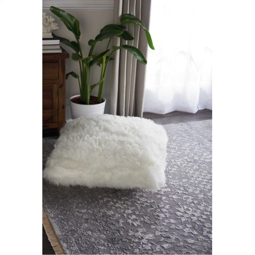 Fur Fl100 White 26 X 26 X 2 Throw Pillows