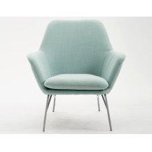 Emerald Home Essex Accent Chair-lagoon Blue-silver Powder Coated Steel Legs-u3323-05-08
