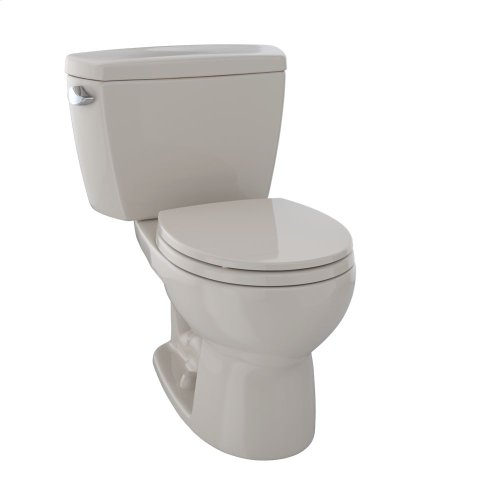 Eco Drake® Two-Piece Toilet, 1.28 GPF, Round Bowl - Bone