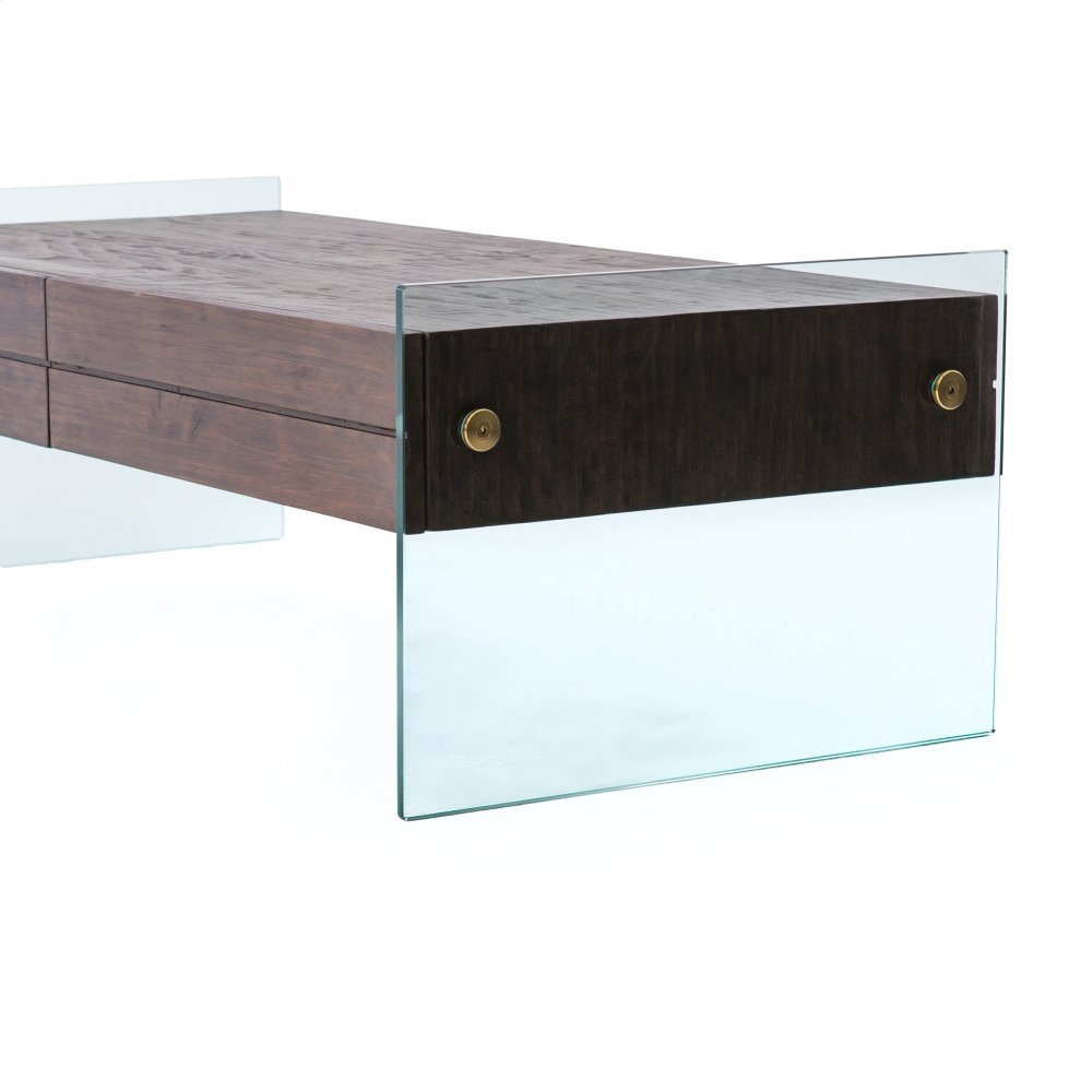 Merveilleux Cinder Brown Finish Houston Coffee Table