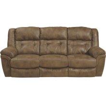 """""""Lay Flat"""" Recl Sofa w/DDT - Almond"""