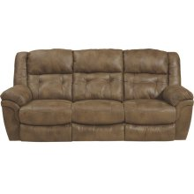 """Lay Flat"" Reclining Sofa - Almond"
