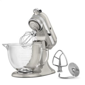 Artisan® Design Series 5 Quart Tilt-Head Stand Mixer with Glass Bowl - Sugar Pearl Silver